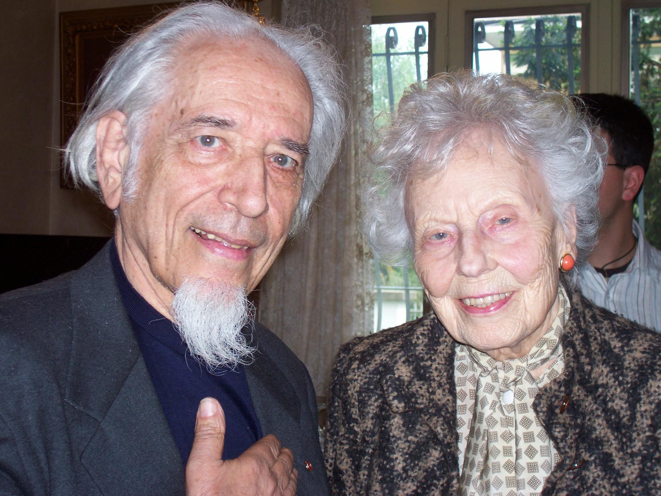 Mandel e soprano Magda Olivero